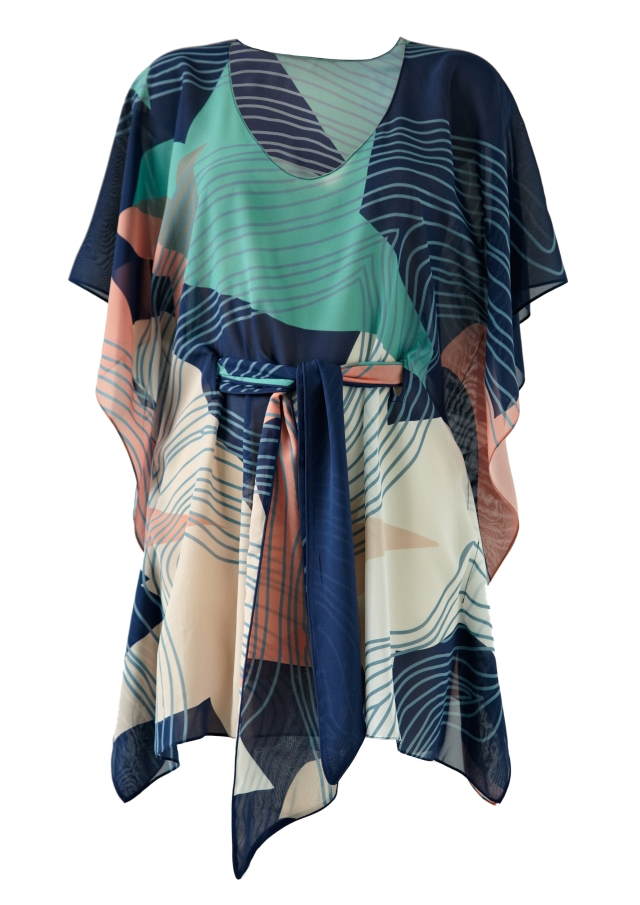 classic short birds on water kaftan_tallulah & hope