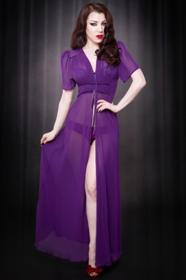 Purple Elle Robe2