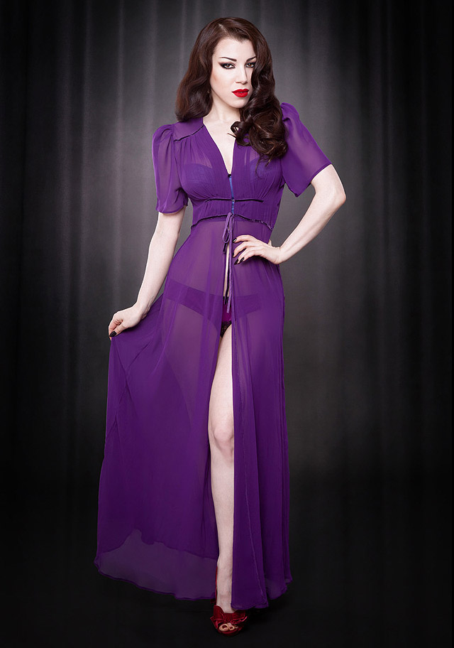Purple Elle Robe by Kiss Me Deadly