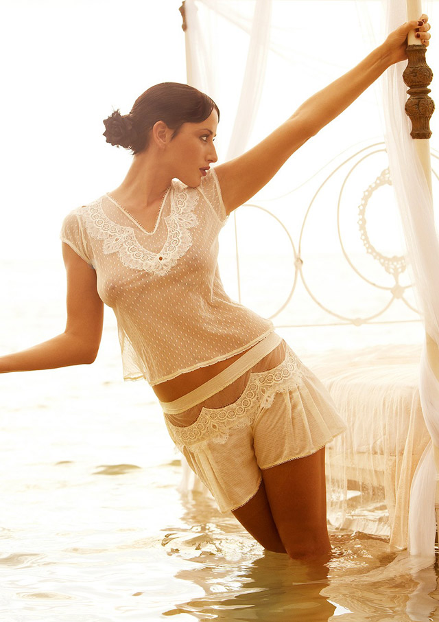 Flirting Shortie and Tulle Tee by Shell Belle Couture