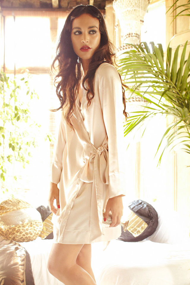 Shell Wrap Robe by Shell Belle Couture