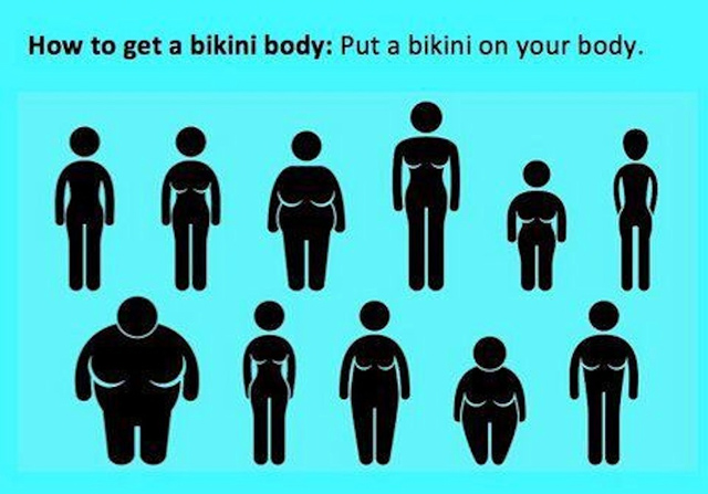 Put a bikini on your body