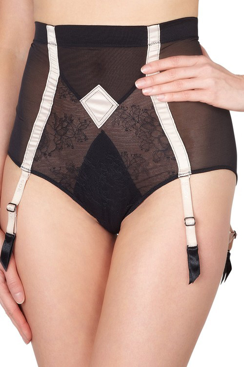 L'Artiste High Waisted Suspender Brief by Rosy