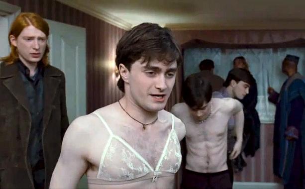 Harry Potter in a bra