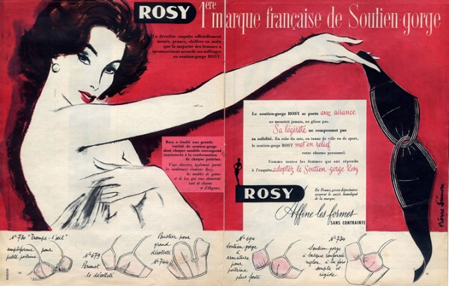 Rosy lingerie ad 1954