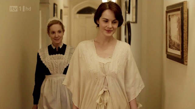 Lady Mary in a nightgown - Series 2