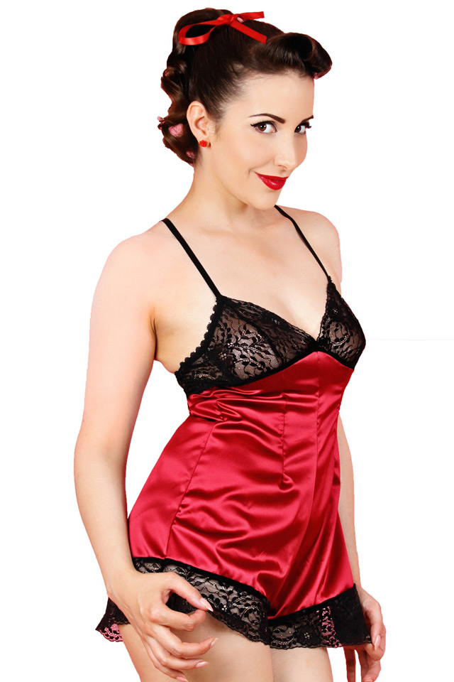Claret Cherie Teddy by Kiss Me Deadly