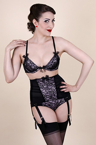 Pink Alouette Cincher by Kiss Me Deadly