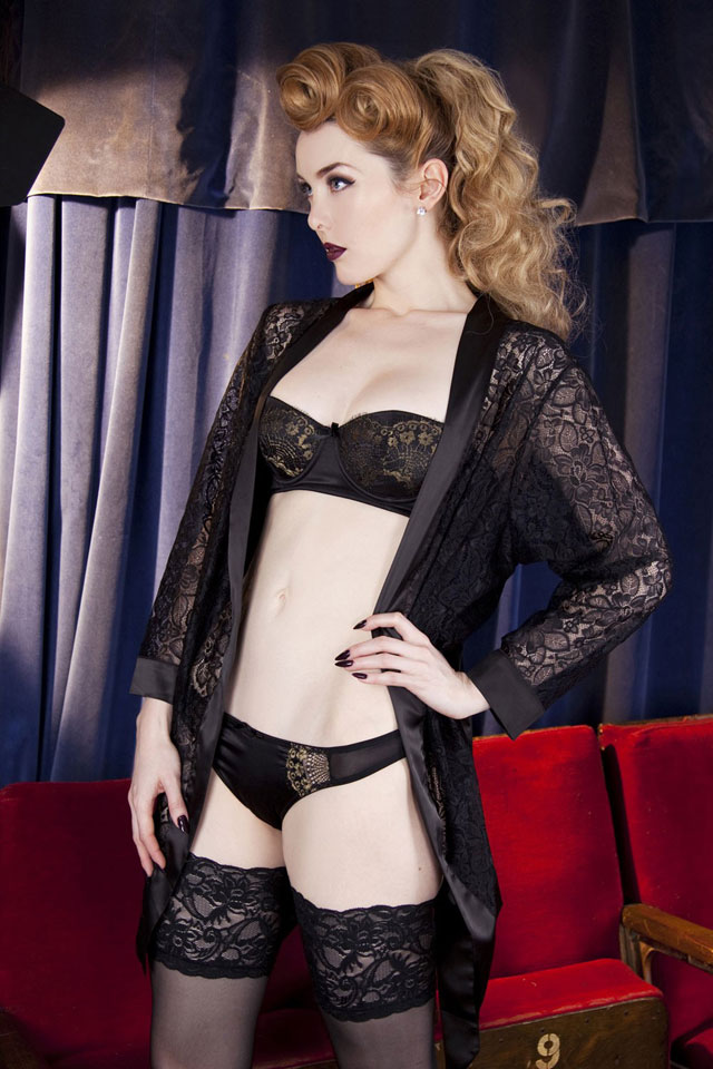 Scarlett Black Lace Robe by Playful Promises