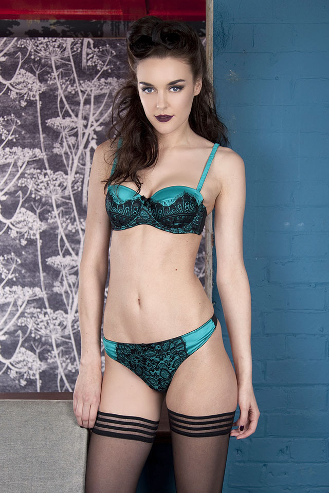 Gwendolene Teal Balconette Bra by Playful Promises