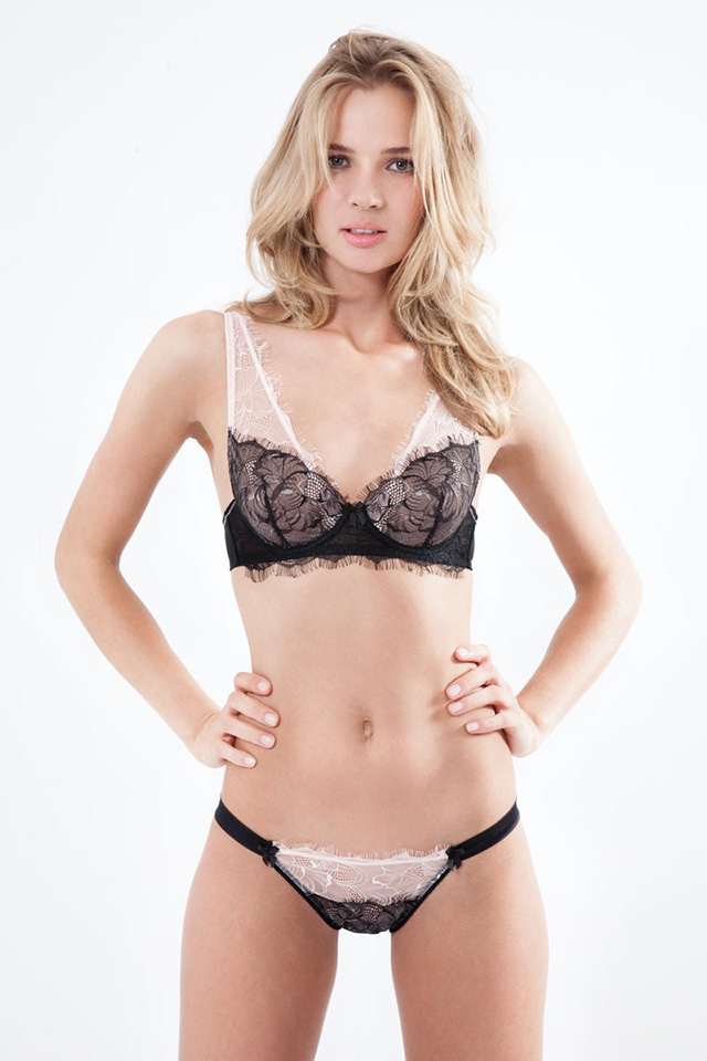 Blossom Noir Padded Shoulder Bra by Mimi Holliday